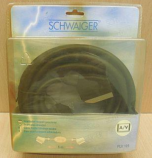 Schwaiger Scart Kabel 5m vollverschaltet Stecker Stecker Video TV DVD DVBT*so838