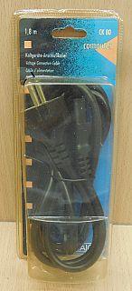 Schwaiger CK 80 Kaltgeräte Stromkabel Schuko 3pol IEC Stecker 1,8m PC* pz797
