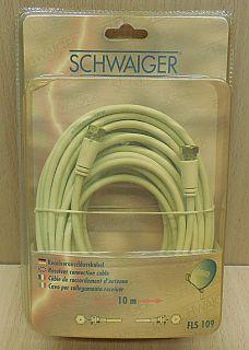 Schwaiger FLS 109 SAT Antennen Kabel Receiver Anschlusskabel 10m F Stecker*so842