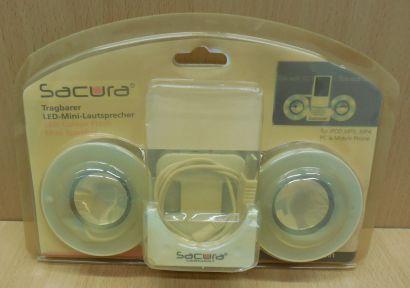 Sacura SC-1901 Tragbarer LED Mini Lautsprecher iPod MP3 MP4 PC Mobil Phone*so846
