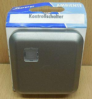 Kopp Ambiente platin Kontrollschalter 6846.9708.2 Unterputz beleuchtet* so849