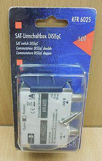 Schwaiger KFR6025 SAT Umschaltbox DiSEqC 1.0 Schalter Verteiler 2 auf 1* so859
