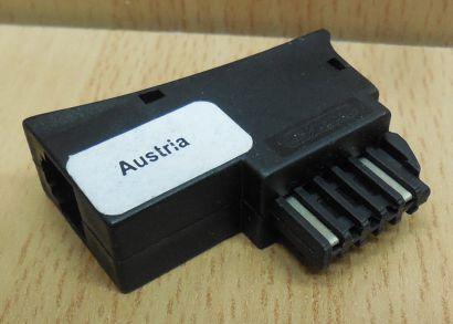 Telefon Adapter TST Stecker auf RJ14 Modular Österreich Austria* so876