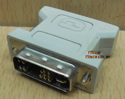 DVI A 12 + 5 pol SUB D 15 pol VGA Adapter analog Stecker Grafikkarte* pz805