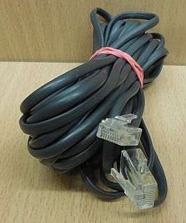ISDN Kabel 8P4C 6m Länge RJ45 Stecker RJ45 Stecker schwarz* so870