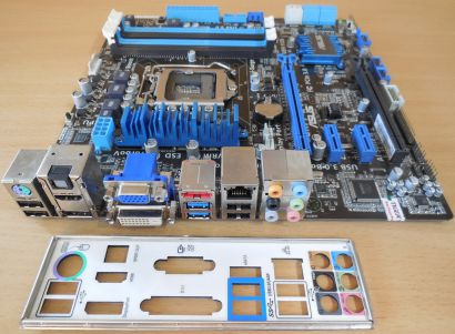 Asus P8H77-M Pro Rev2.00 Mainboard +Blende Intel H77 Sockel 1155 DDR3 HDMI* m944