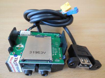MEDION PC MT22 Art Nr 20011000 Front Panel USB Card Reader Audio 3.5mm* pz600