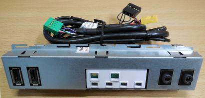 Dell Optiplex 3020 Front Panel 098MPJ701633C6A1Q0A00 USB Audio LEDs Panel* pz611