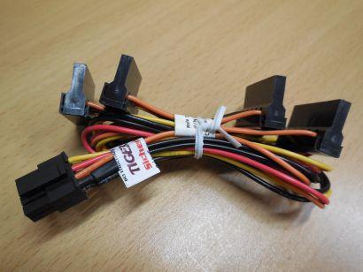 Dell Optiplex 3020 7020 9020 0C8T8C 6-pin zu 4x SATA Power Stromkabel* pz612