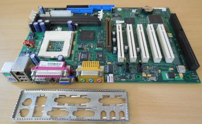 FSC D1219-C32 GS 2 Mainboard + Blende Sockel 370 ISA LAN VGA AGP Audio USB* m948