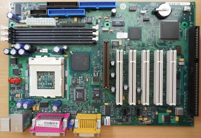 FSC D1219-C32 GS 2 Mainboard + Blende Sockel 370 ISA LAN VGA AGP Audio USB* m948