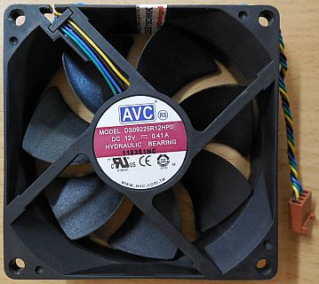 AVC DS09225R12HP032 PC Computer Gehäuse Lüfter 4-pol 92mm Hydrauliklager* GL121