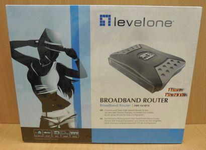 Levelone FBR-1418TX Router 4xLAN Firewall NAT VPN SNMP NEU OVP* nw537