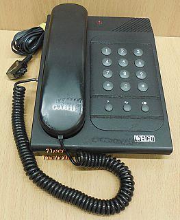 Welco Telefon Tel-90C Tischtelefon schwarz B Ware gebraucht 3m TAE Kabel* so869