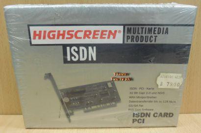 Highscreen PCI ISDN Controller 32 bit G3 G4 Fax Art. Nr. V626010 NEU OVP* nw83