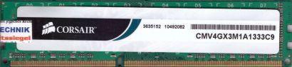 Corsair CMV4GX3M1A1333C9 PC3-10600 4GB DDR3 1333MHz Arbeitsspeicher RAM* r728