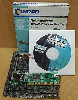 Conrad 973499 10 100Mbps DSL LAN Netzwerkkarte Fast Ethernet PCI RTL8139D* nw84
