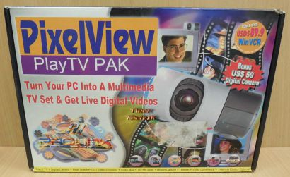 Pixelview Play TV Pak Retro TV Karte mit Fernbedienung Webcam uvm BT878 PCI*tk55