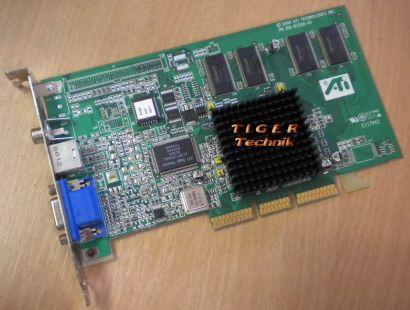 ATI Rage 128 Pro Grafikkarte AGP 4x 16MB PN 109-63200-01 VGA TV-Out RCA* g04