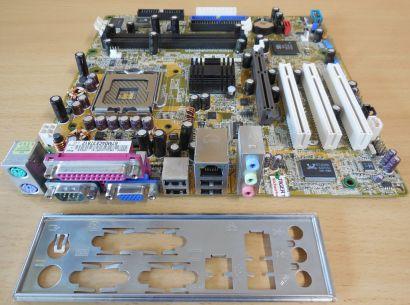 Asus P5S800-VM S Rev 2.11G Mainboard +Blende Sockel 775 SATA AGP VGA LAN* m950