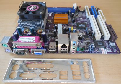 ECS Elitegroup K7SOM+ V7.5C Mainboard +Blende AMD Pro 1800+ CPU VGA LAN Aud*m951