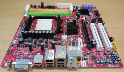 MSI MS-7304 Ver 1.3 Mainboard AMD Sockel AM2 AM2+ ATI PCIe DDR2 DVI Audio* m955