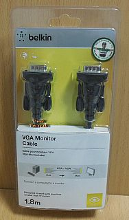 Belkin F2N028cp VGA Kabel 1,8m SUB D 15pol Stecker Monitor LCD LED TV PC* pz816