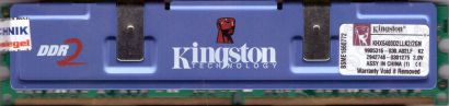 Kingston HyperX KHX6400D2LLK2 2GN PC2-6400 1G DDR2 800MHz 9905316-030 A02LF*r730