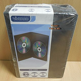 5x Vivanco Case CD DVD Blu ray Doppelhülle 2 fach Hülle Leerhüllen NEU OVP*so880