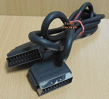 Scart Kabel 1,5m 21 pol vollverschaltet 2x Stecker Video TV DVD DVB-T* so883