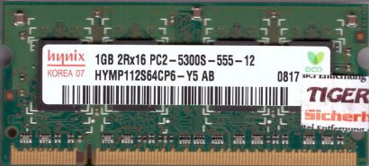 Hynix HYMP112S64CP6-Y5 AB PC2-5300 1GB DDR2 667MHz SODIMM RAM* lr134