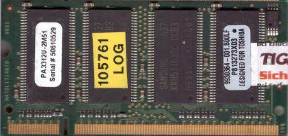 Toshiba PA3312U-2M51 PC2700 512MB DDR1 333MHz SODIMM 9930364-001 B00LF RAM*lr138