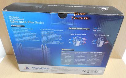 GlacialTech Igloo 5610 Plus Sockel 775 11 50 51 55 56 1366 AM 2 3 FM 1 939*ck327