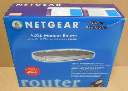Netgear DG824B ADSL Router mit Netzteil in OVP Firewall 4xLAN DSL Ethernet*nw540