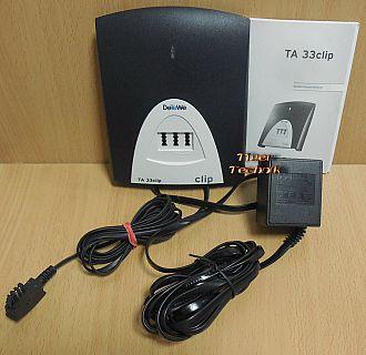 DeTeWe TA 33 clip AB Wandler Terminaladapter ISDN Analogwandler + Netzteil*so892