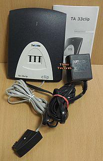 DeTeWe TA 33 clip AB Wandler Terminaladapter ISDN Analogwandler + Netzteil*so893
