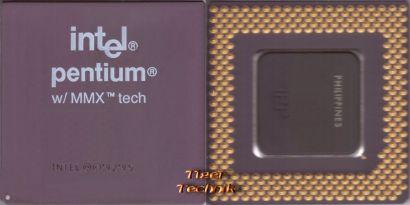 CPU Prozessor Intel Pentium I 1 SL27K 166 MHz FSB66 Sockel 7 MMX A80503166* c598