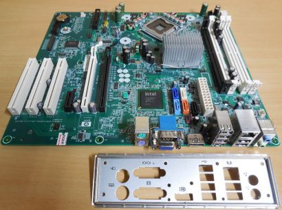 HP Saturn Rev A 462431 001 460963 Mainboard +Blende Sockel 775 DC7900 CMT* m964