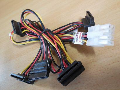 Fujtisu T26139-Y4012-V1 A3C4011984 3 4 8-pin zu 5x SATA Power Stromkabel* pz621