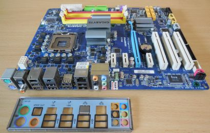 Gigabyte GA-EP45-UD3 Rev1.0 Mainboard +Blende So775 P45 FSB1600 DDR2 PCIe*m965
