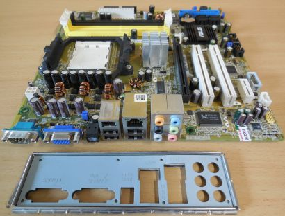Asus M2R-FVM S Rev1.01G Mainboard +Blende AMD Sockel AM2 DDR2 PCIe VGA LAN* m967