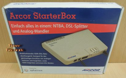 Arcor Starter Box DSL NT1PLUS Arcor 2 sphairon G04 A00 S2.17 3x TAE* nw543