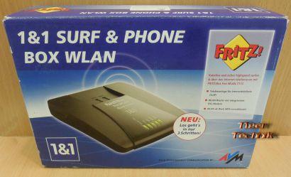 AVM Fritz Box Fon Wlan 7112 DSL Router ADSL ADSL2+ 2xTAE 1&1 Surf & Phone* nw544