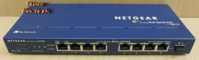 Netgear DS108 8 fach Switch 10 100Mbps Fast Ethernet 8 Port Dual Speed Hub*nw546
