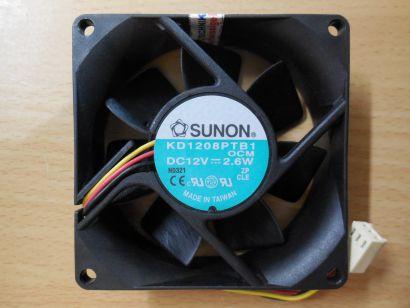 SUNON Lüfter KD1208PTB1 OCM DC12V 2.6 U.S.PATS. 4987331 5093599 5245236* gl124