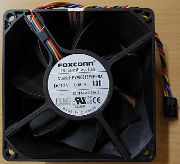FOXCONN PV903212PSPF0A DELL OptiPlex 790 PN 0WC236 Lüfter 5-pol 12V 92mm* GL126