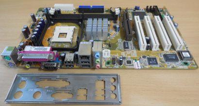 ASUS P4P800S-X Rev 1.01 Mainboard +Blende Intel Sockel 478 SATA AGP 8X DDR* m968
