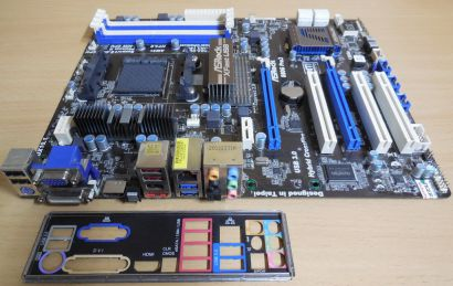 ASRock 880G Pro3 Rev 1.02 Mainboard +Blende AMD Sockel AM3 AM3+ PCIe DDR3* m970