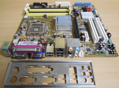 ASUS P5GC-VM Pro Rev 1.02G Mainboard +Blende Intel Sockel 775 VGA LAN Audio*m972