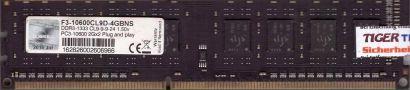 G.SKILL 4GB Kit 2x2GB F3-10600CL9D-4GBNS PC3-10600 DDR3 1333MHz CL9 RAM* r743